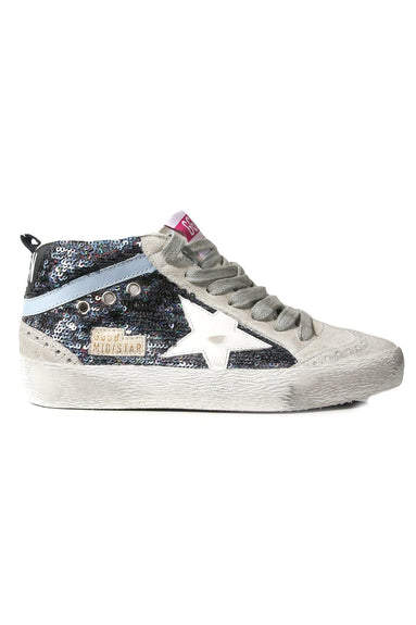 Mid Star Sneakers in Multicolor Paillettes/White Star