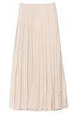 Pleated Viscose Crepe Skirt in Cream