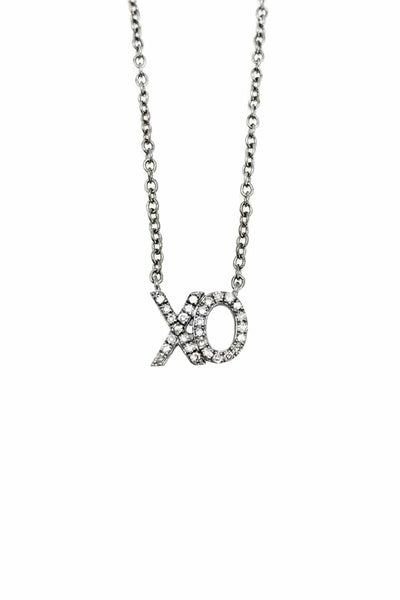 XO Necklace in Sterling Silver
