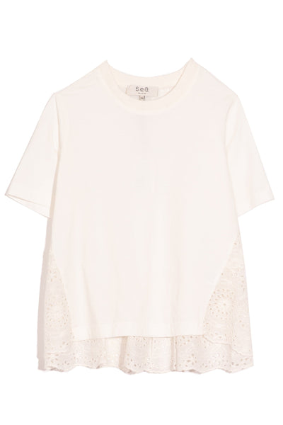 Daisy Combo T-Shirt in Off White