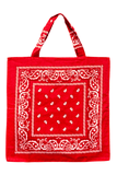 Bandana Beach Bag in Red