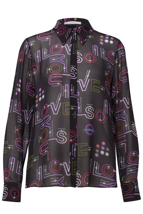 Love Map Blouse in Colorful Map