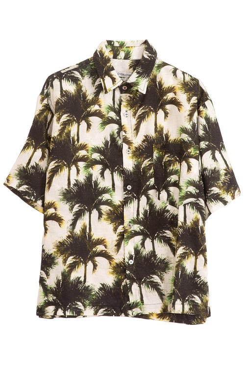 Temescal Top in Neon Palms White