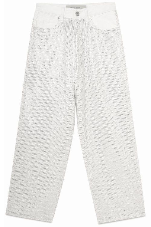 Breezy Pant in White/Silver
