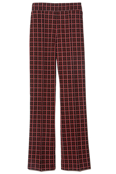 Check Trousers in Red/Black