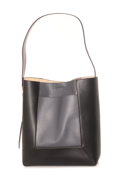 Contrast Bag in Black/Grey