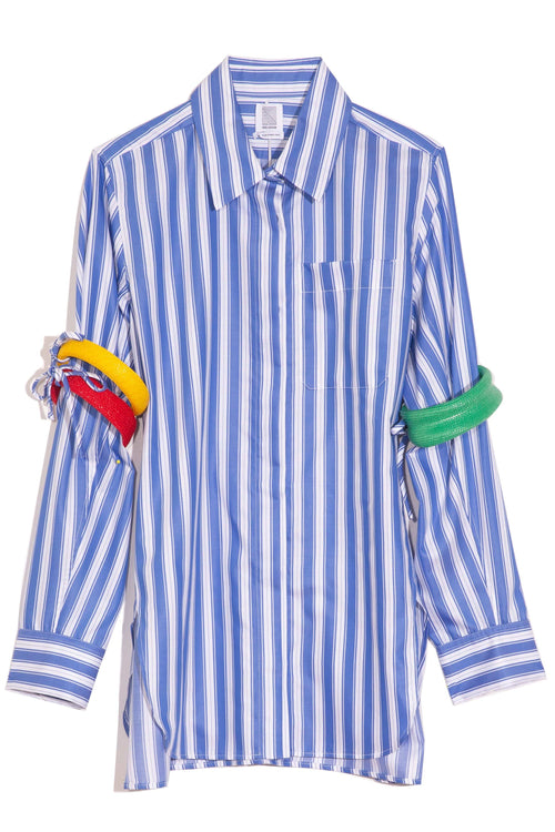 Bangled Button Up Shirt in Blue Stripe