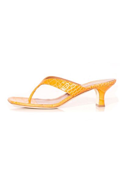 Moc Croco Thong Sandal in Orange