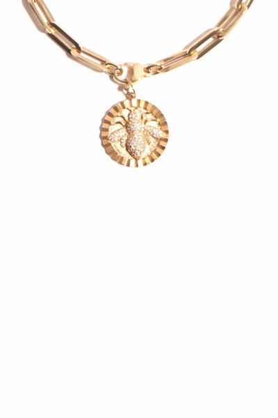 Bee Pendant in 14k Gold
