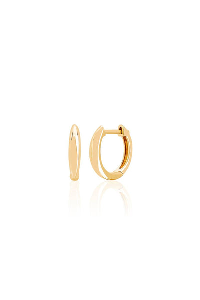 Dome Mini Huggie in Yellow Gold