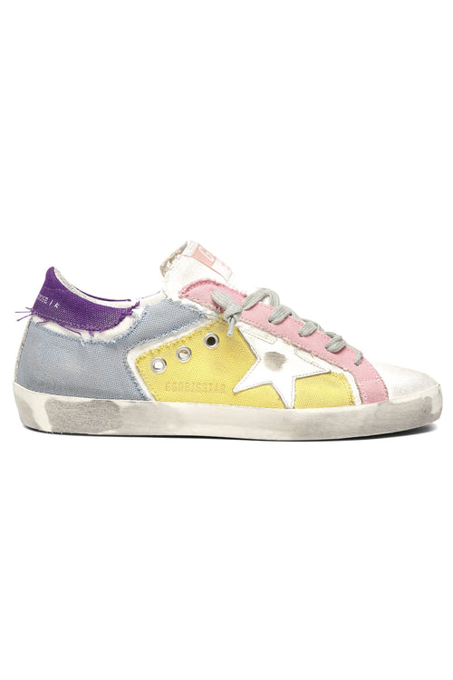 Superstar Sneaker in Multicolor Patch Canvas/White Star