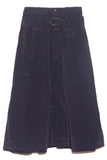 Textured Parachute Midi Skirt in Navy