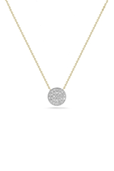Lauren Joy Two-Tone Medium Necklace in White and Yellow Gold