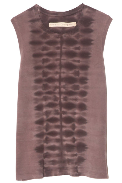 Fitted Muscle Tee in Mauve Tie Dye