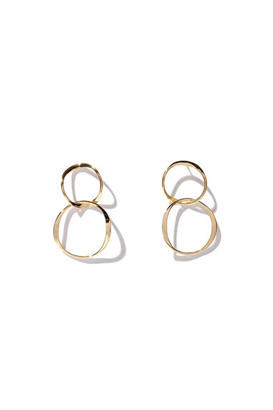 Short Interlocking Hoops in 14k Gold Plate