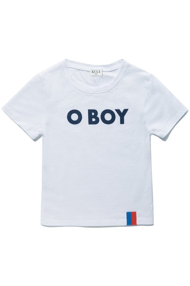 Kids The Charley O Boy Top in White