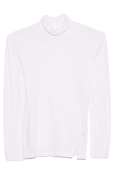 Fitted Funnel Neck T-Shirt in White