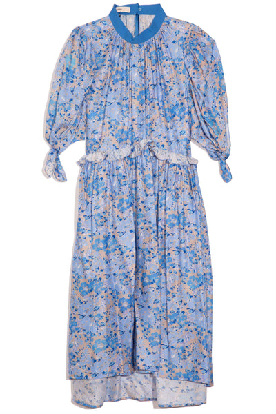 Amy Dress in Blue Floral Print