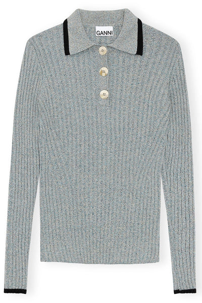 Linen Knit Sweater in Bachelor Blue