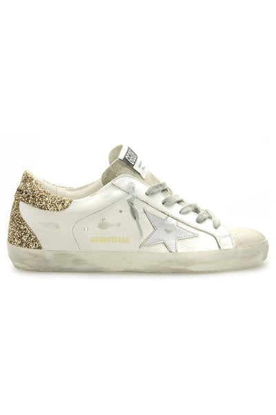 Superstar Sneaker in White/Ice/Silver/Gold