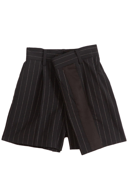 Lame Pinstripe Shorts in Navy