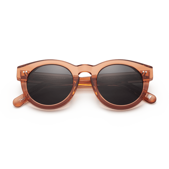 #003 Black Sunglasses in Peach