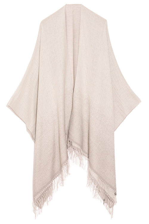 Ombre Poncho in Light Grey