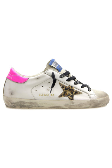 Superstar Sneaker in Ice/White/Brown Leo/Fuchsia Fluo