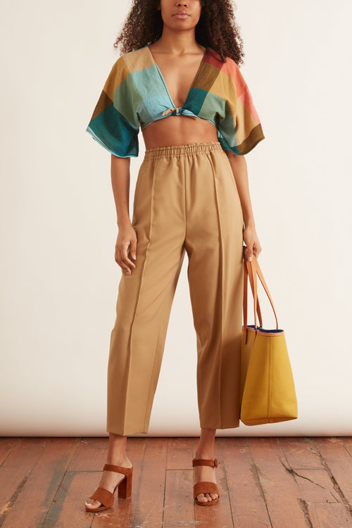 Tropical Wool Trouser in Dijon