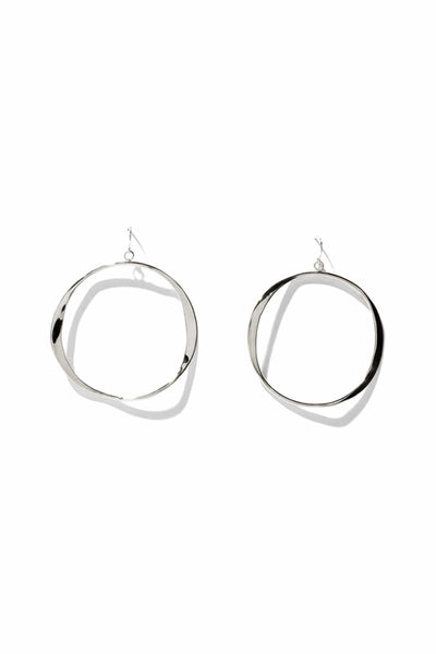 Small Classic Wave Hoops in Sterling Silver