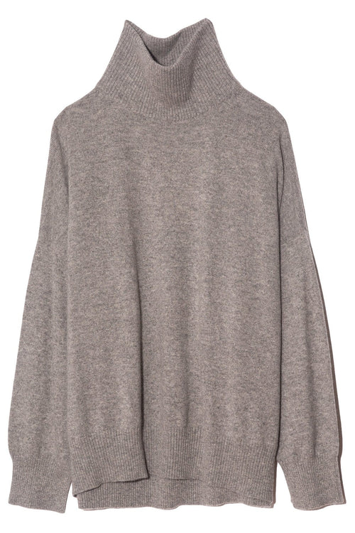Murano Turtleneck Sweater in Grey Melange