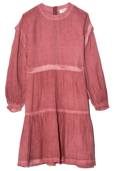 Yara Puff Sleeve Dress in Rhubarb