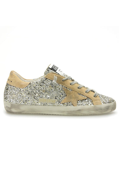 Superstar Sneaker in Platinum/Beige