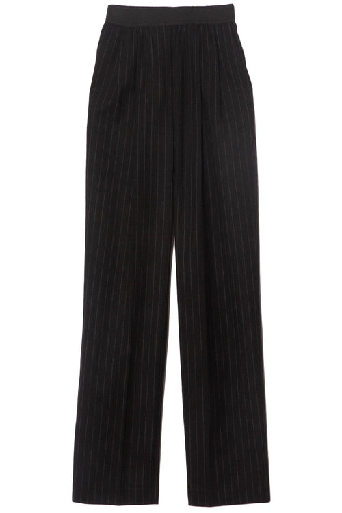 Moretta Pants in Black Stripes
