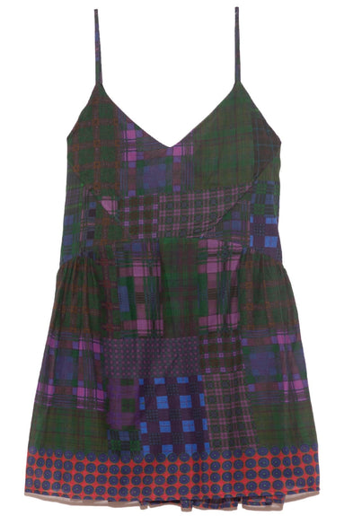 Lolita Dress in Dark Tartan