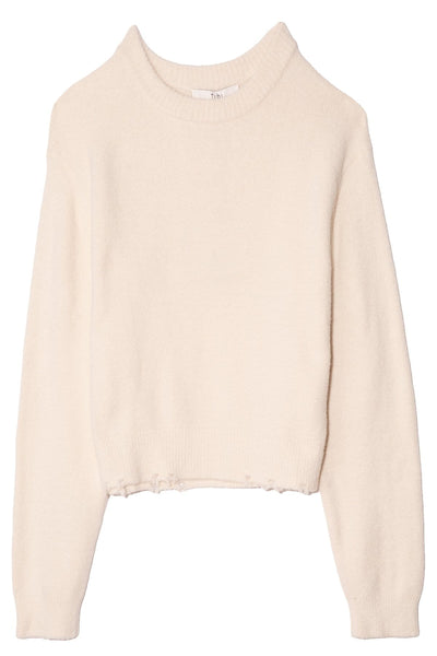 Fondue Crewneck Sweater in Cream