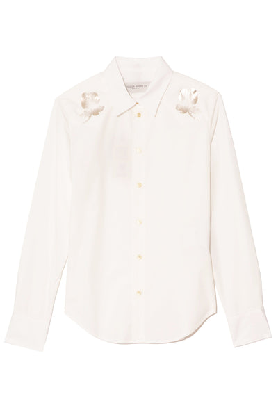 Alicya Slim Shirt in Off White