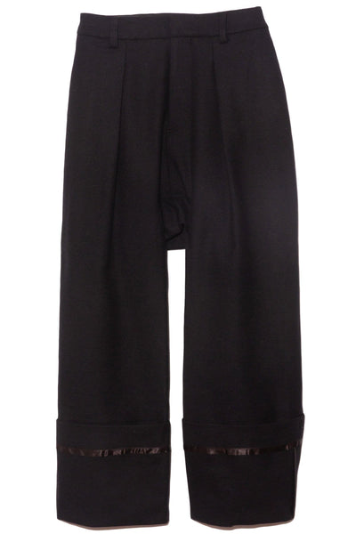 Drop Crotch Wide Cuff Pant in Black/Blue