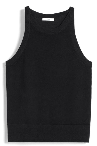Wool Knit Tank in Black