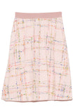 Tweed Skirt in Rose Multi