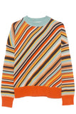 Long Sleeve Crew Neck Sweater in Multicolor