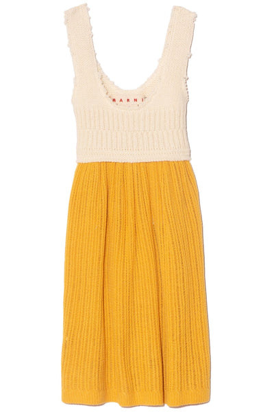 Sleeveless Dress in Maize