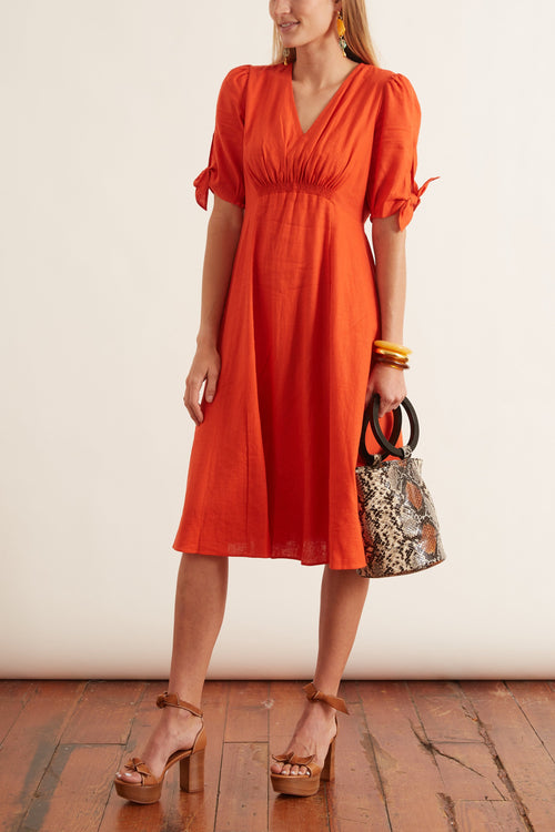 Zinnia Dress in Orangina