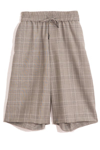 Baggy Short in Grey Plaid
