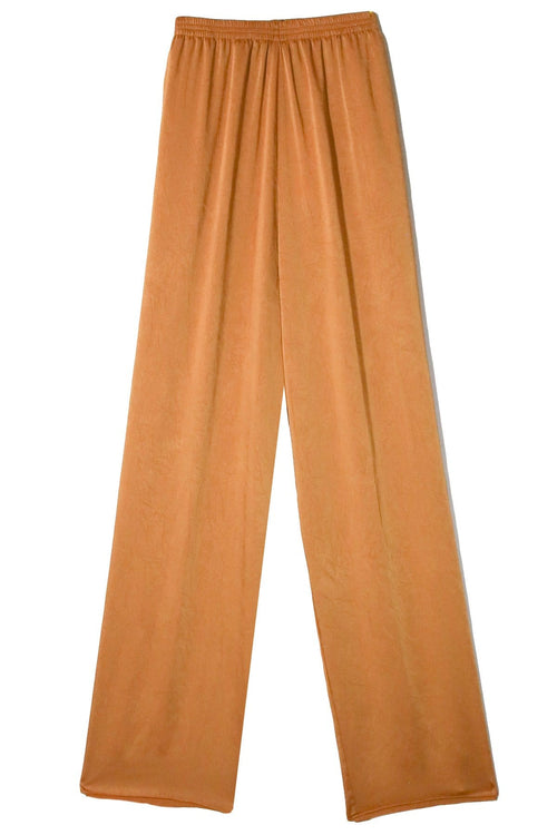 Crash Satin Elasticated Pants in Oro