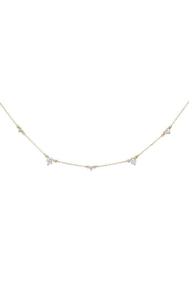 5 Diamond Amigos Necklace in Yellow Gold