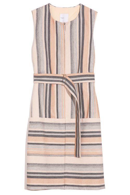 Zip Front Shift Dress in Multi