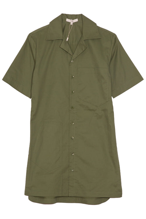 Featherweight Twill Camp Dress in Olive