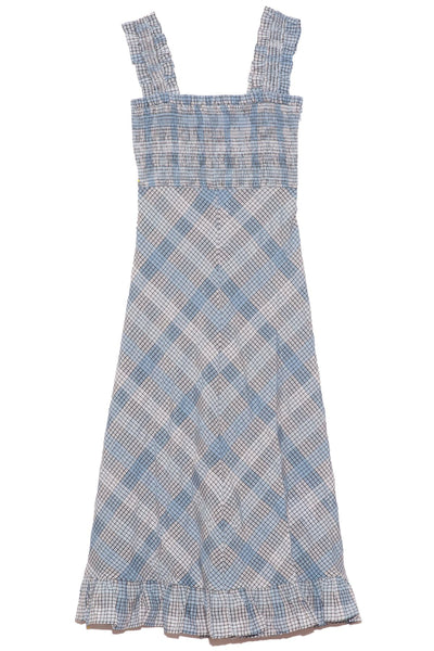 Seersucker Check Maxi Dress in Heather