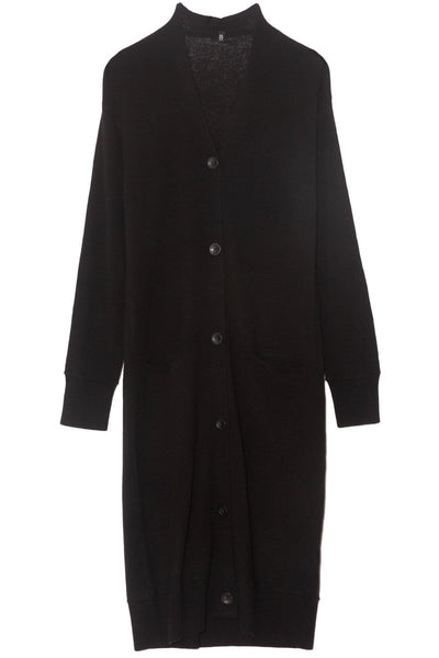 TS Long Cashmere Cardigan in Black